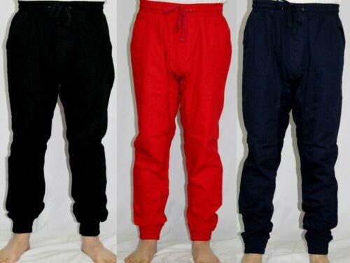 Men Twill Jogger Pants Btl Casual Hip Hop Swag Slim Fit 5 Color