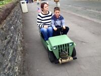 Ready for christmas electric Ride on Jeep totrod not quad go kart
