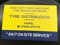 Truck and plant mobile tyre service fitting - Retreade Truck - Lorry Tyres New