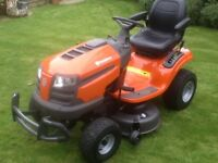 Husqvarna TS138 Ride on sit on mower tractor