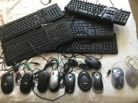 QUALITY PC KEYBOARDS & WIRELESS MICE SELECTION - COMPUTER MOUSE from £3 each