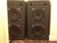 Pair of 150w double 12 inch speakers, all new drivers fitted