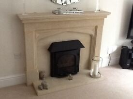 Wood burner and fireplace