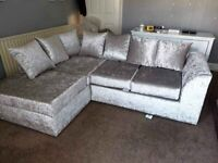 Brand Newly Manufactured *DYLAN CRUSH SILVER VALVET* in Stock.