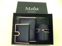 Moda boxed gift set - purse, wallet, lipstick