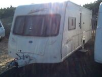 2007 Bailey senator Oklahoma fixed bed 4 berth with fitted mover