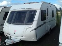 2008 abbey vogue 470 fixed bed 4 berth with fitted mover & awning