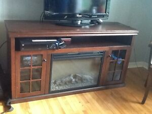 ELECTRIC  FIREPLACE   WITH  ENTERTAINMENT   CENTER