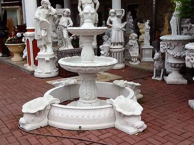 Etagenbrunnen mit 2 Schalen & Becken Steinguss Brunnen Springbrunnen, Gartendeko