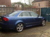 AUDI A4 QUATTRO Special Edition in Mauritius Blue. One mature owner, genuinely low mileage.