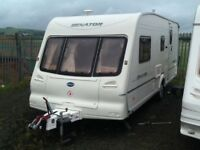 2002 Bailey senator arizona 4 berth end changing room with fitted mover & awning