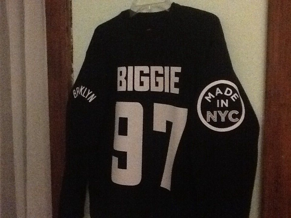 Biggie 97 Sweatshirt NWT Bad Boy Brooklyn Nets Hip-hop Retro Concord Wu Tang Nas