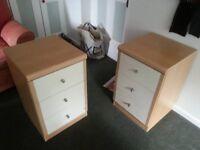 2 x bedside cupboards