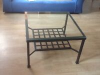 Square glass top coffee table by IKEA