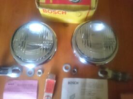Bosch knick chrome foglights Mercedes Porsche 356 VW Split Oval Bus Beetle