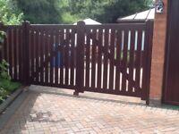 Hardwood Estate Gates