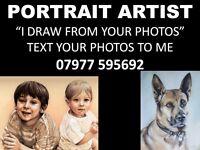 PENCIL PORTRAIT DRAWING ARTIST - TEXT ME YOUR PHOTOS