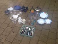 Camping caravan Motorhome plates and cutlery