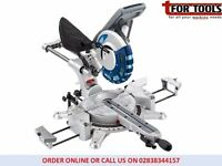 Draper 28043 250mm 2000W 230V Double Bevel Sliding Compound Mitre Saw Laser