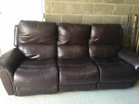 La-Z-Boy Brown Leather Sofa