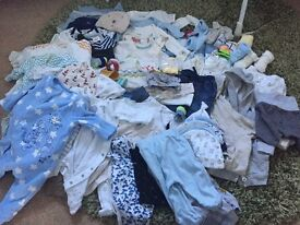Baby boy bundle - first size to one month