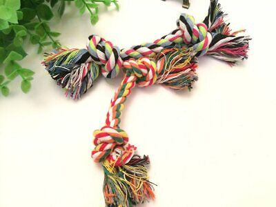Pet Cotton Chew Knot Toys For Dogs Durable Bone Rope Colorful Teeth - Durable Knot Dog Bone