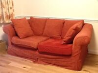 Two seater and three seater sofas. Scatter cushions.