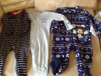 9-12 months boys sleep suits
