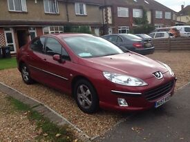 57 reg Peugeot 407 2.0HDI Sport in percect condition low mileage 12mont MOT