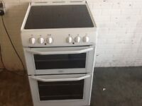 Electric cooker double oven -(55cm-wide) - ceramic top - can deliver