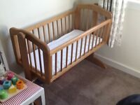 Swinging baby crib-from mothercare