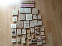 Card making wooden stamps