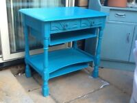 Restored, shabby chic side table
