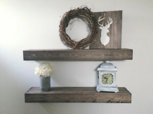 HANDMADE Rustic Chunky Floating Shelf