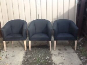 Three club chairs. Mount Pleasant Ballarat City Preview