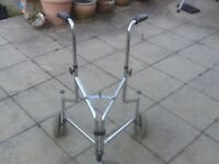 3 wheeled foldable,height adjustable mobility aid walker-excellent condition-£10