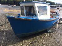 fishing boat 21ft inboard perkins