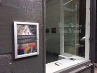 Gallery available for Artist exhibitions and events