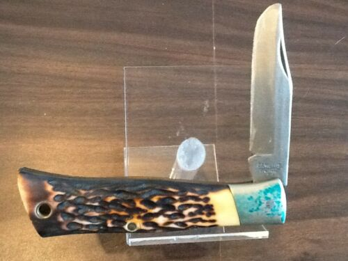 SCOUT KNIFE & case - CAMILLUS - used - Boy Scout BSA G&W 9/2