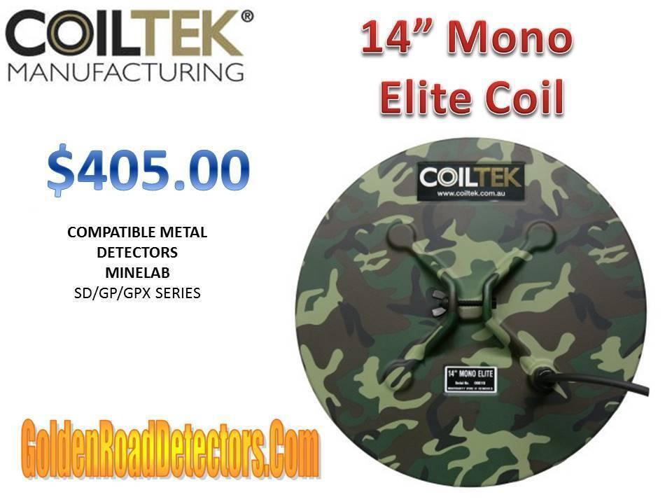 "CoilTek 14"" Mono Elite Coil For Minelab SD/GP/GPX"