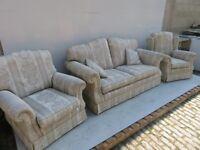 3 Piece Suite - Sofa - Armchairs - Excellent Condition