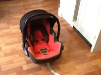 Maxi cost car seat from birth £20 and lightweight travel buggy £5 .