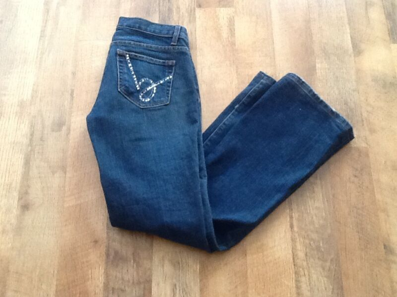 BEBE BLING DARK BOOT CUT JEANS SIZE 28