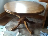 Ducal Victoria dining table and four chairs