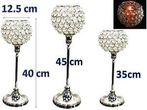 3-Genuine-Crystal-Votive-Candle-Holder-NOT-ACRYLIC-Wedding-House-Gift-35-40-45cm