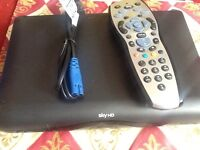 Slim sky hd box with remote plus power cable