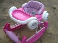 Baby rocker rocks forward and back-padded seat has been washed-see all 9photos -£5