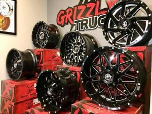 HOTTEST WHEELS ON THE MARKET !!! XF OFFROAD ~~~ GREAT PRICES ~~ GRIZZLY TRUCKS