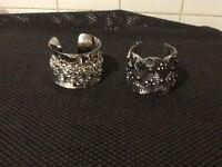 2 cuff bracelets. (New)