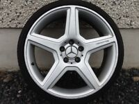 19INCH 5/112 MERCEDEZ 447 ALLOY WHEELS FIT VW SEAT AUDI ETC WITH TYRES GOOD CONDITION